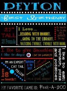 peytonfirstbirthdayboard
